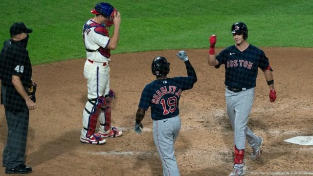 Boston Red Sox's Jackie Bradley Jr. And Bobby Dalbec