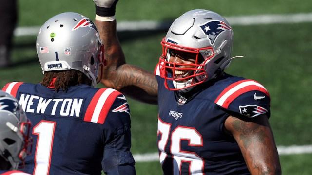 Patriots left tackle Isaiah Wynn