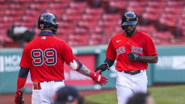 Boston Red Sox Outfielders Alex Verdugo And Jackie Bradley Jr.