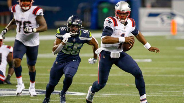 Seattle Seahawks linebacker Jordyn Brooks and New England Patriots quarterback Rex Ryan