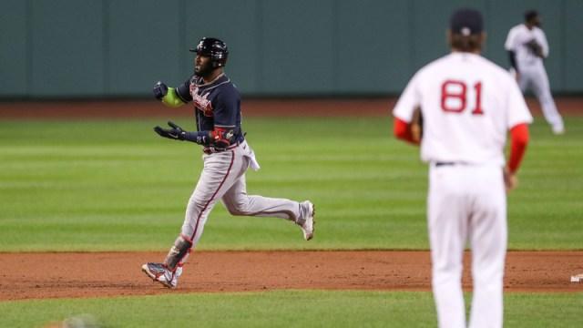 Atlanta Braves Designated Hitter Marcell Ozuna