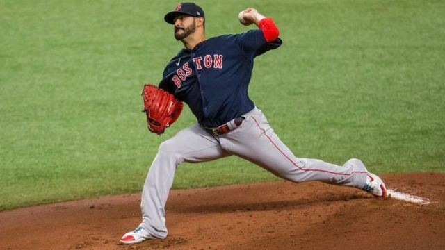 Boston Red Sox starting pitcher Martin Perez