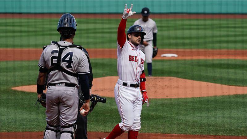 Watch Michael Chavis Hit Second Homer Of Game Vs. Yankees With Three-Run Shot - NESN.com