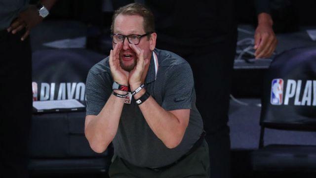 Toronto Raptors head coach Nick Nurse