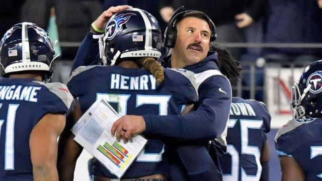 Tennessee Titans running back Derrick Henry, Tennessee Titans coach Mike Vrabel