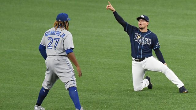 Toronto Blue Jays first baseman Vladimir Guerrero Jr. and Tampa Bay Rays shortstop Willy Adames