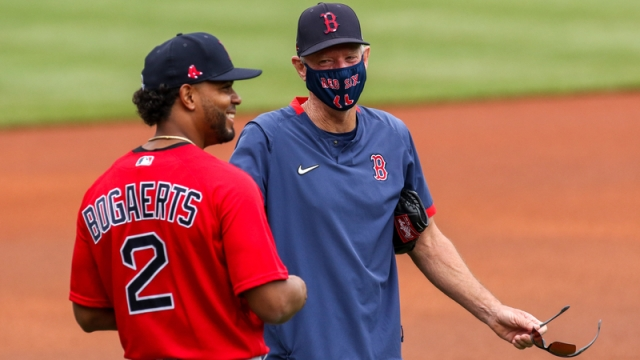 Boston Red Sox Shortstop Xander Bogaerts And Former Manager Ron Roenicke