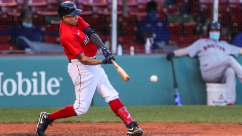 Boston Red Sox Left Fielder Yairo Munoz