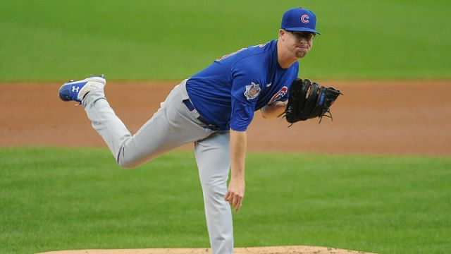 Chicago Cubs starting pitcher Alec Mills