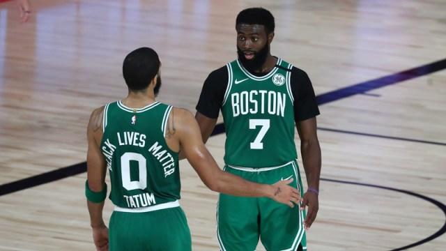 Boston Celtics' Jaylen Brown, Jayson Tatum