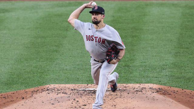 Boston Red Sox starting pitcher Nathan Eovaldi