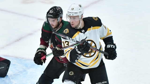 Arizona Coyotes defenseman Oliver Ekman-Larsson, Boston Bruins center Charlie Coyle