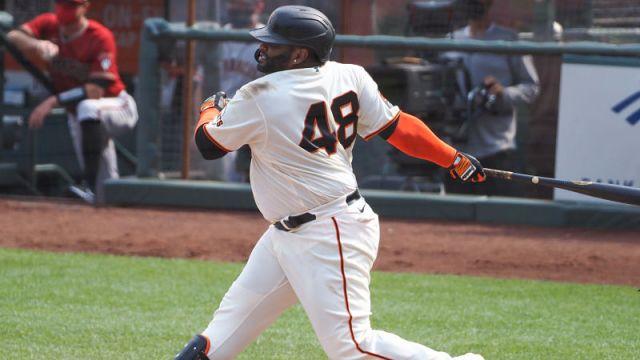 San Francisco Giants designated hitter Pablo Sandoval