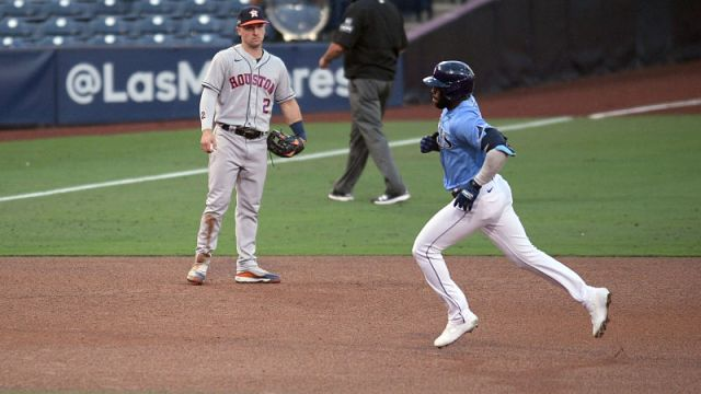 Houston Astros third baseman Alex Bregman and Tampa Bay Rays outfielder Randy Arozarena