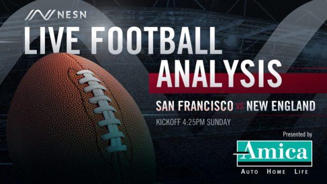Amica Live Football Analysis NE vs SF 4:25pm Sunday