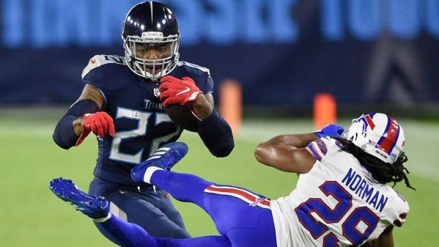 Tennessee Titans running back Derrick Henry and Buffalo Bills cornerback Josh Norman
