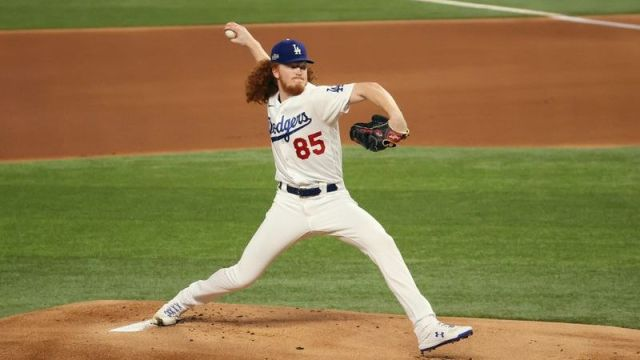 Los Angeles Dodgers pitcher Dustin May