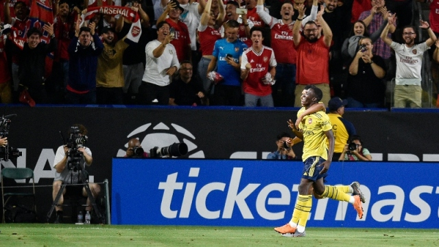 Arsenal striker Eddie Nketiah