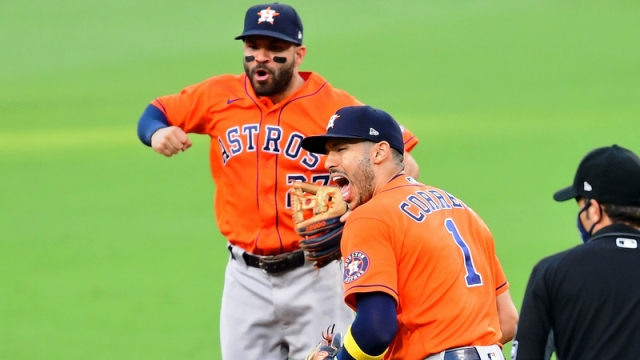Houston Astros Shortstop Carlos Correa And Second Baseman José Altuve