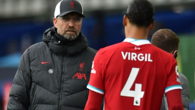 Liverpool manager Jurgen Klopp and defender Virgil van Dijk