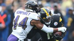 Baltimore Ravens cornerback Marlon Humphrey and Pittsburgh Steelers wide receiver JuJu Smith-Schuster