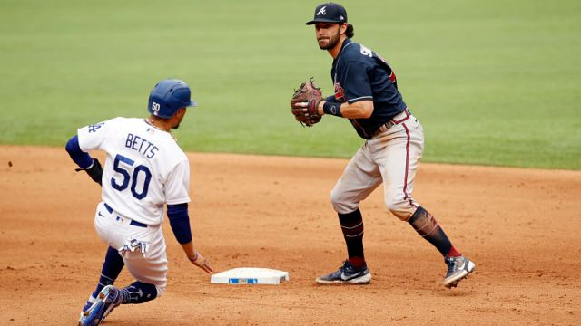 Los Angeles Dodgers outfielder Mookie Betts and Atlanta Braves shortstop Dansby Swanson