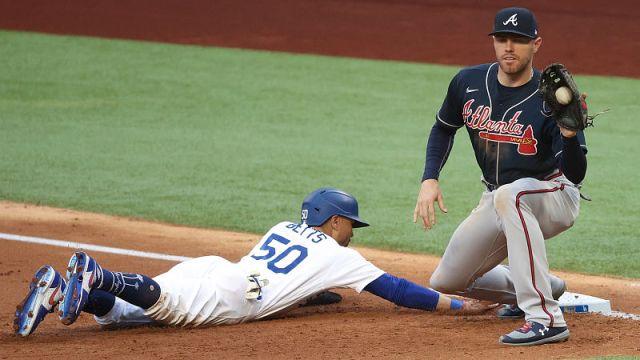 Los Angeles Dodgers outfielder Mookie Betts and Atlanta Braves first baseman Freddie Freeman