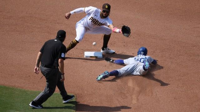 San Diego Padres Shortstop Fernando Tatis Jr. And Los Angeles Dodgers Right Fielder Mookie Betts