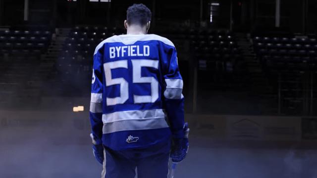 Los Angeles Kings' Quinton Byfield