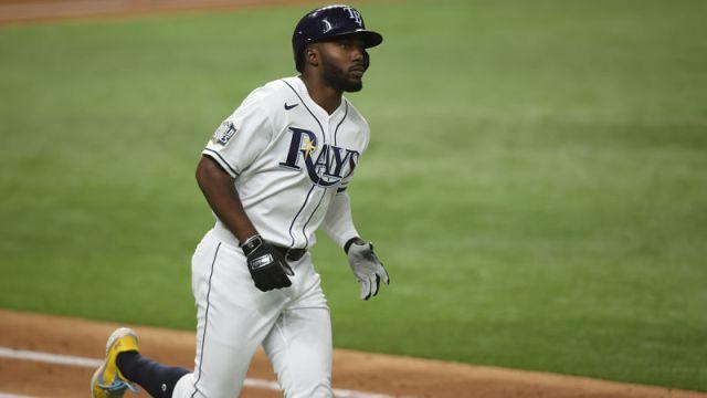 Tampa Bay Rays left fielder Randy Arozarena