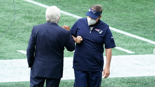 New England Patriots owner Robert Kraft and head coach Bill Belichick