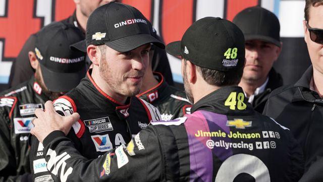 NASCAR drivers Alex Bowman and Jimmie Johnson
