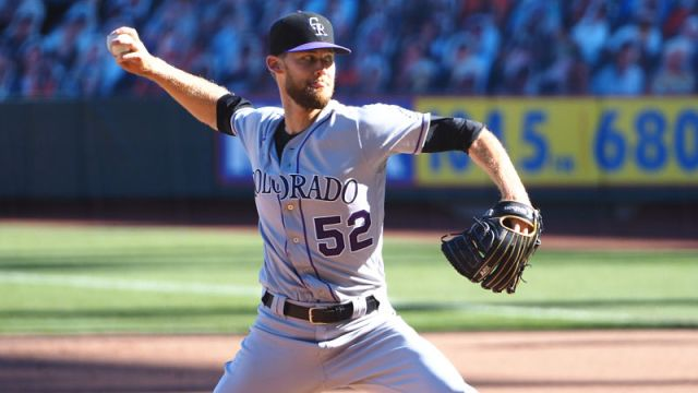 Colorado Rockies relief pitcher Daniel Bard