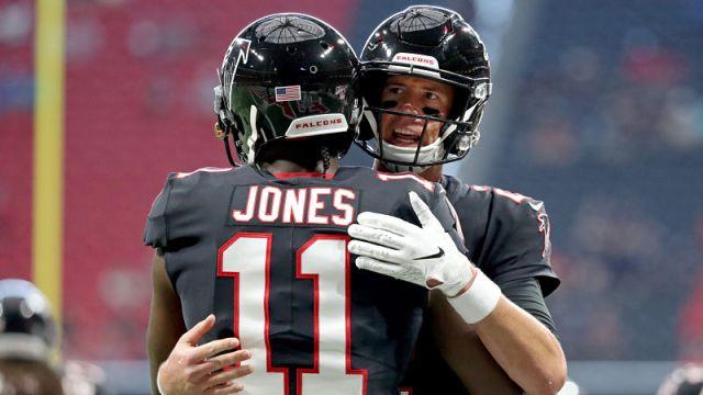 Atlanta Falcons quarterback Matt Ryan and receiver Julio Jones