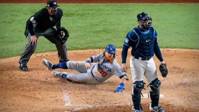 Los Angeles Dodgers infielder Justin Turner