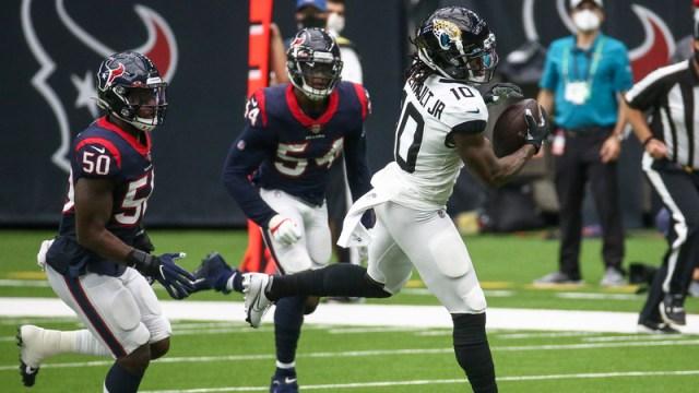 Jacksonville Jaguars receiver Laviska Shenault Jr.
