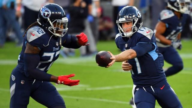 Tennessee Titans' Ryan Tannehill, Derrick Henry