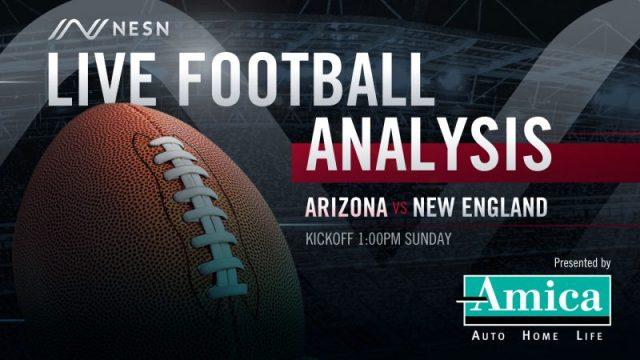 Amica Live Football Analysis NE vs AZ 1:00pm Sunday