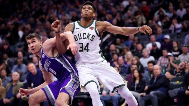 Milwaukee Bucks forward Giannis Antetokounmpo, Sacramento Kings guard Bogdan Bogdanovic