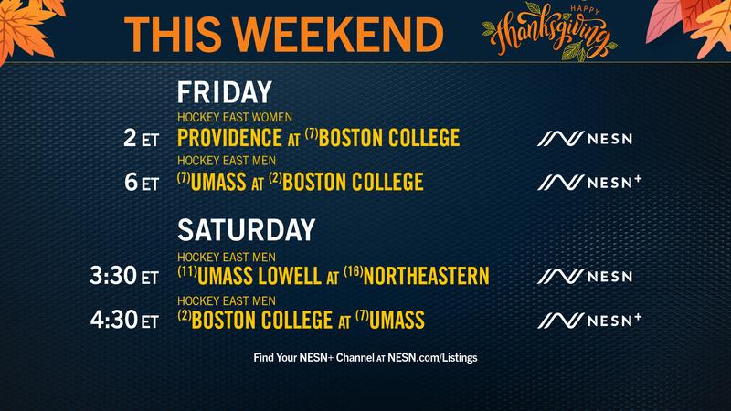 Hockey East Matchups Headline Big Weekend Of College Sports On NESN Networks - NESN.com