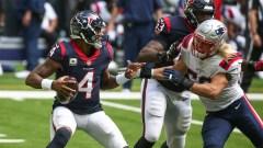 Texans quarterback Deshaun Watson, Patriots linebacker Chase Winovich