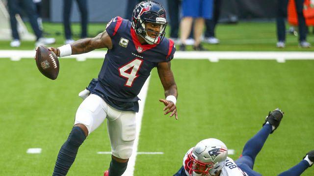 Houston Texans quarterback Deshaun Watson and New England Patriots defensive end Tashawn Bower