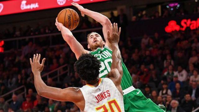 Boston Celtics forward Gordon Hayward, Atlanta Hawks center Damian Jones