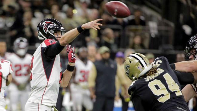 Atlanta Falcons quarterback Matt Ryan and New Orleans Saints defensive lineman Cameron Jordan