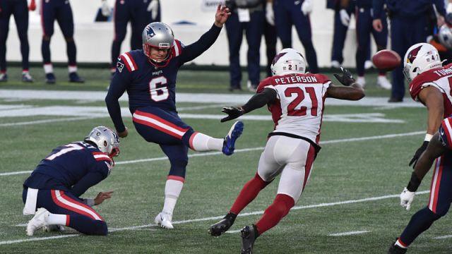 New England Patriots kicker Nick Folk and Arizona Cardinals cornerback Patrick Peterson