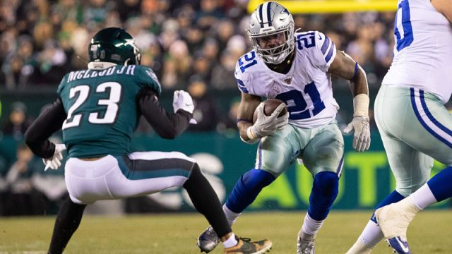 Philadelphia Eagles safety Rodney McLeod and Dallas Cowboys running back Ezekiel Elliott