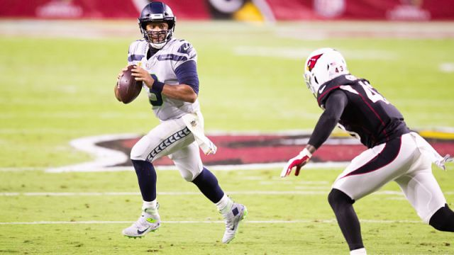 Seattle Seahawks quarterback Russell Wilson and Arizona Cardinals linebacker Haason Reddick