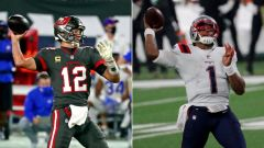 Tampa Bay Buccaneers Tom Brady, New England Patriots quarterback Cam Newton