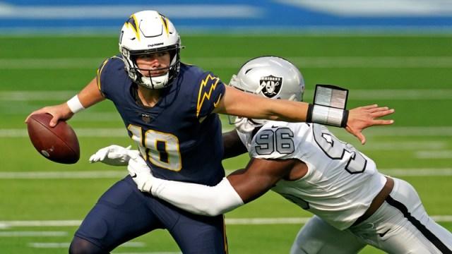 Los Angeles Chargers quarterback Justin Herbert