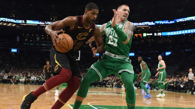 Boston Celtics centers Daniel Thies, Tristan Thompson